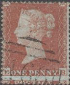 1854 1d Red SG17 Plate 166 'EB'